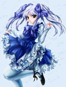 Rating: Safe Score: 12 Tags: dress hoshino_ruri kisaragi martian_successor_nadesico necomanma skirt_lift thighhighs User: RuriRuri