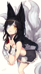 Rating: Safe Score: 68 Tags: ahri animal_ears bandages cleavage haru_ato league_of_legends tail User: nphuongsun93