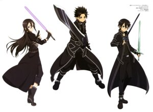 Rating: Safe Score: 26 Tags: gun kirito male pointy_ears sword sword_art_online tanabe_kenji User: drop