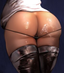 Rating: Explicit Score: 71 Tags: ass cum lapaco pantsu panty_pull thighhighs User: BattlequeenYume