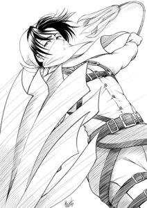 Rating: Safe Score: 5 Tags: autographed levi male monochrome shingeki_no_kyojin yama-michi User: charunetra