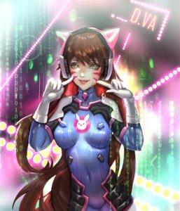 Rating: Safe Score: 12 Tags: animal_ears bodysuit d.va headphones nekomimi overwatch sangrde tattoo User: charunetra