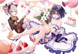 Rating: Safe Score: 38 Tags: cleavage dress garter heels honkai_impact mecha_musume munseonghwa skirt_lift User: Mr_GT