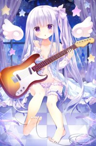 Rating: Questionable Score: 95 Tags: cameltoe cleavage feet garter goto_jun guitar kinokomushi lingerie loli pantsu panty_pull tenshi_no_three_piece! User: fairyren
