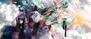 Rating: Safe Score: 36 Tags: h2so4kancel hatsune_miku landscape vocaloid User: eridani