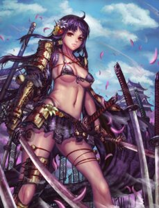 Rating: Questionable Score: 51 Tags: bikini_armor edenfox sengoku_taisen sword User: blooregardo