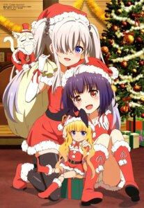 Rating: Safe Score: 35 Tags: bloomers christmas dress pantsu sakakibara_taiga shinonome_matoi soranogawa_ena thighhighs z/x_code_reunion User: drop