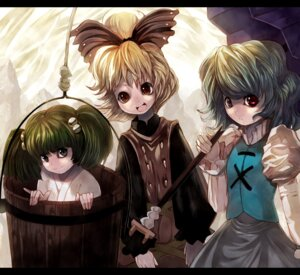Rating: Safe Score: 6 Tags: kisume kurodani_yamame shape tatara_kogasa touhou User: Mr_GT