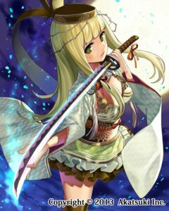 Rating: Questionable Score: 46 Tags: matsui_hiroaki sword thighhighs User: blooregardo