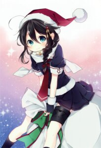 Rating: Safe Score: 28 Tags: christmas kantai_collection naoto seifuku shigure_(kancolle) User: yong
