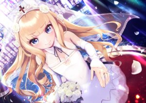 Rating: Safe Score: 37 Tags: 5saiji azur_lane dress queen_elizabeth_(azur_lane) wedding_dress User: Nepcoheart