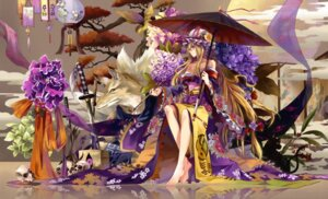 Rating: Safe Score: 44 Tags: cleavage kimono neko_(yanshoujie) touhou yakumo_yukari User: Mr_GT
