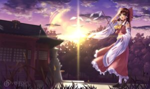 Rating: Safe Score: 29 Tags: hakurei_reimu miko touhou veilrain User: creator2013