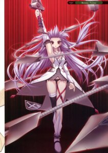 Rating: Safe Score: 17 Tags: 11eyes hayakawa_harui kurokishi_inwidia sword thighhighs User: crim