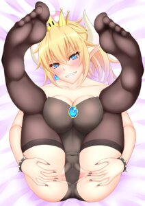 Rating: Explicit Score: 40 Tags: bowsette cameltoe cleavage feet horns leotard new_super_mario_bros._u_deluxe nopan pointy_ears pussy tagme thighhighs User: MurakumoJP