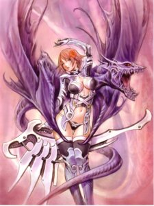 Rating: Safe Score: 35 Tags: armor cleavage cropme monster thighhighs wings yamashita_shunya User: DLS84