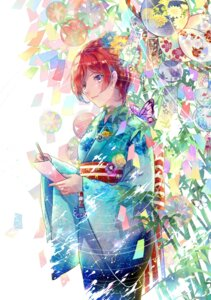 Rating: Safe Score: 36 Tags: ekita_gen kimono love_live! nishikino_maki User: Mr_GT