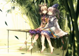 Rating: Safe Score: 37 Tags: dress feet kieta mononobe_no_futo see_through touhou toyosatomimi_no_miko User: Mr_GT