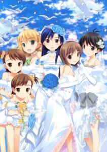 Rating: Safe Score: 24 Tags: dress fujima_takuya futami_ami futami_mami hagiwara_yukiho hoshii_miki kikuchi_makoto kisaragi_chihaya the_idolm@ster the_idolm@ster_break! wedding_dress User: crim