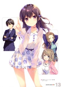 Rating: Safe Score: 53 Tags: business_suit gi(a)rlish_number karasuma_chitose_(giarlish_number) karasuma_gojou katakura_koto kugayama_yae ohara_tometa qp:flapper sweater User: drop