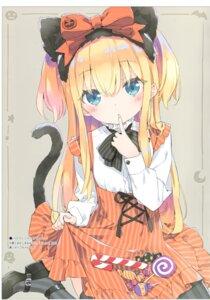 Rating: Questionable Score: 55 Tags: animal_ears halloween heels luminocity peco shimotsuki_potofu skirt_lift tail thighhighs User: zyll