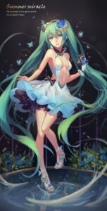 Rating: Safe Score: 69 Tags: atdan cleavage dress hatsune_miku heels no_bra vocaloid User: Mr_GT