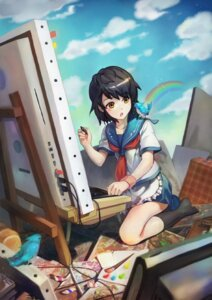 Rating: Safe Score: 13 Tags: oekaki_musume ryuutetsu seifuku User: blooregardo