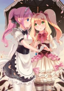 Rating: Safe Score: 23 Tags: holmemee maid pantyhose umbrella yuri User: Mr_GT