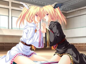 Rating: Questionable Score: 55 Tags: game_cg magus_tale nina_geminis rena_geminis tenmaso yuri User: blooregardo