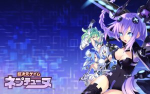 Rating: Safe Score: 65 Tags: ass black_heart bodysuit choujigen_game_neptune cleavage compile_heart green_heart purple_heart thighhighs tsunako underboob wallpaper white_heart User: Devard