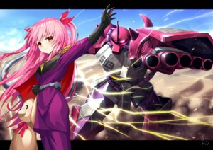 Rating: Safe Score: 8 Tags: bettle_(b_s_a_n) crossover gundam himekuma_ribon mecha re:act uniform User: Dreista