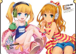 Rating: Safe Score: 50 Tags: bandaid cleavage feet headphones hiiro_yuki hino_akane_(idolm@ster) mary_cochran minus_art_works school_swimsuit swimsuits the_idolm@ster the_idolm@ster_cinderella_girls User: van