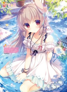 Rating: Safe Score: 64 Tags: animal_ears bunny_ears dress possible_duplicate summer_dress wet yukie User: kiyoe