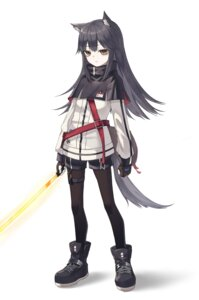 Rating: Questionable Score: 26 Tags: animal_ears arknights garter nam pantyhose sword tail texas_(arknights) User: sym455