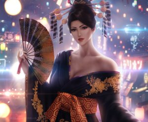 Rating: Questionable Score: 17 Tags: cleavage final_fantasy final_fantasy_vii kimono madame_m no_bra wickellia User: Darkthought75