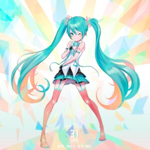 Rating: Safe Score: 23 Tags: hatsune_miku keije stockings tattoo thighhighs vocaloid User: Mr_GT