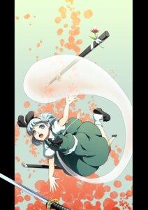 Rating: Safe Score: 15 Tags: konpaku_youmu myon sword touhou yoshino_ryou User: fireattack