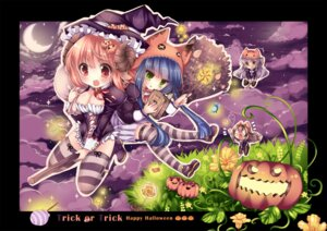Rating: Safe Score: 17 Tags: animal_ears cleavage duji_amo halloween horns nekomimi thighhighs witch User: fairyren