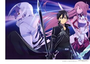 Rating: Safe Score: 25 Tags: aizawa_takahiko armor asuna_(sword_art_online) kirito sword sword_art_online yuna_(sword_art_online) User: drop
