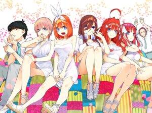 Rating: Safe Score: 43 Tags: 5-toubun_no_hanayome cleavage dress haruba_negi headphones heels nakano_ichika nakano_itsuki nakano_miku nakano_nino nakano_yotsuba summer_dress uesugi_fuutarou User: kiyoe