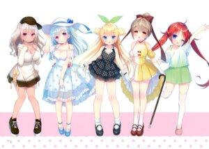 Rating: Safe Score: 29 Tags: cleavage dress summer_dress tagme thighhighs usashiro_mani User: kiyoe