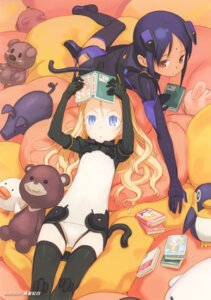 Rating: Safe Score: 35 Tags: aisha_krishnam animal_ears elise_von_dietrich kuroboshi_kouhaku leotard sky_girls tail thighhighs User: vita