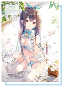 Rating: Questionable Score: 35 Tags: bra cleavage garter_belt lingerie miwabe_sakura stockings thighhighs User: Twinsenzw