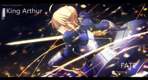 Rating: Safe Score: 35 Tags: armor dress fate/stay_night magicians saber sword User: RyuZU