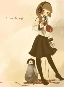Rating: Safe Score: 8 Tags: headphones meisa penguin User: himawariYamato