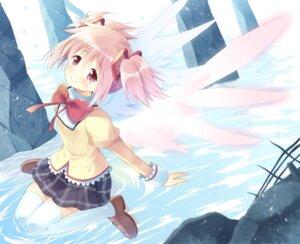 Rating: Safe Score: 22 Tags: kaname_madoka komi_zumiko puella_magi_madoka_magica seifuku thighhighs wings User: 椎名深夏