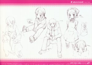 Rating: Safe Score: 6 Tags: gayarou kiriyama_sakura monochrome sakura_musubi sketch User: Kalafina