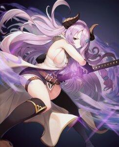Rating: Safe Score: 36 Tags: garter granblue_fantasy horns narumeia_(granblue_fantasy) ohihil pointy_ears sword thighhighs User: Dreista