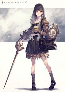 Rating: Safe Score: 22 Tags: armor cleavage kusano_shinta seifuku sword User: Mr_GT