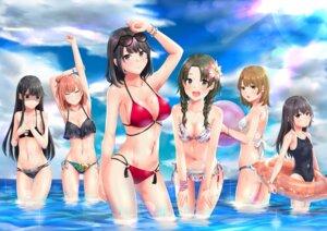 Rating: Safe Score: 40 Tags: bikini breast_hold cleavage isshiki_iroha megane meri-san school_swimsuit swimsuits tsurumi_rumi wet yahari_ore_no_seishun_lovecome_wa_machigatteiru. yuigahama_yui yukinoshita_haruno yukinoshita_yukino User: mash